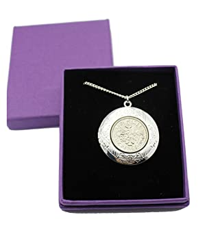 Year 1958 Lucky Sixpence Locket on 20