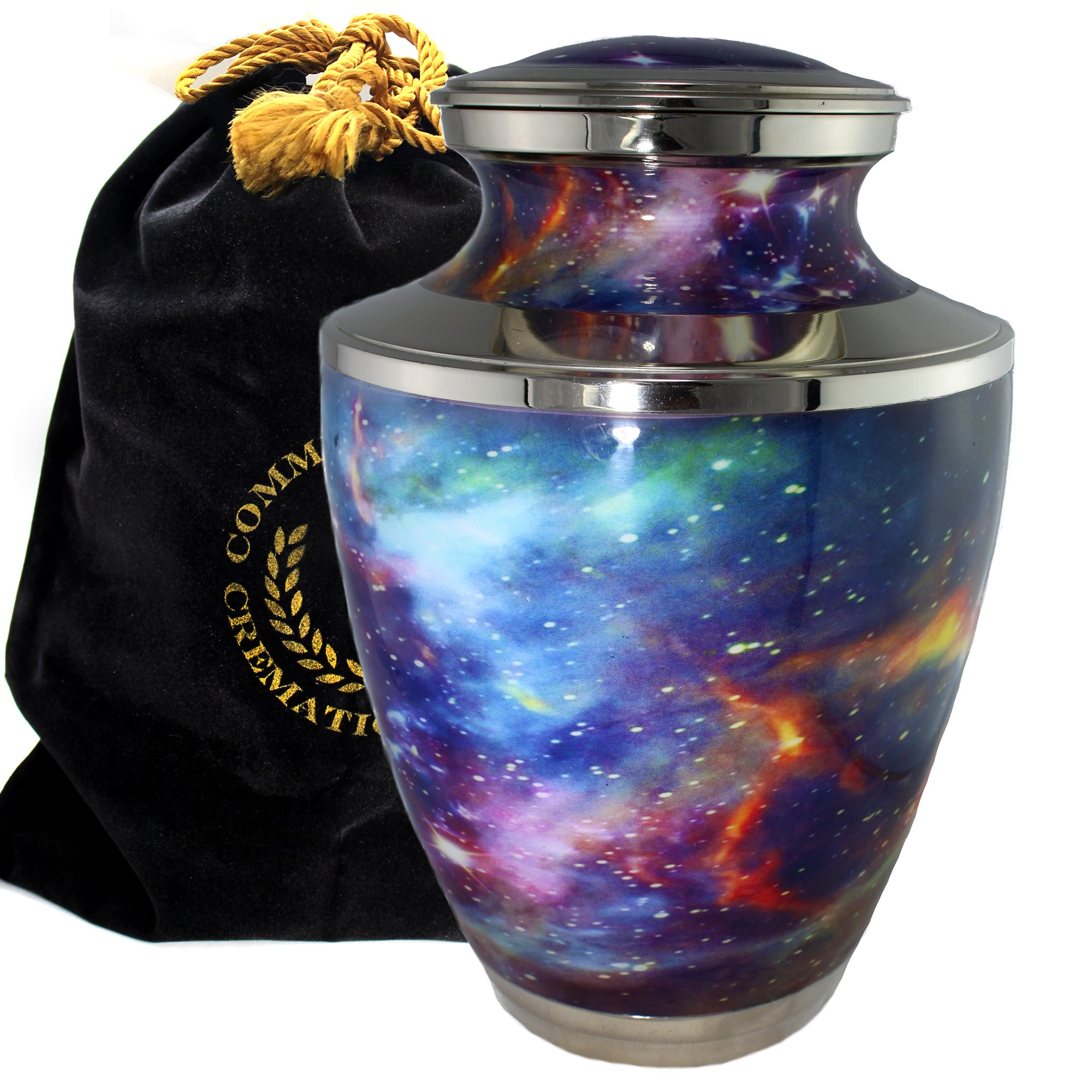 Cosmic Universe Galaxy Burial or Funeral Adult Cremation Urn for Human Ashes - Large, Adult by Commemorative Cremation Urns
