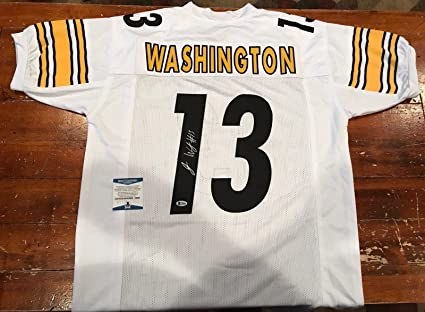 various colors 2709d 90bee Autographed James Washington Jersey - Custom Pittsburgh ...