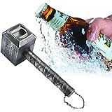 niceeshop(TM) Beer Bottle Opener,Hammer of Thor Shaped Bottle Opener Wine Corkscrew Beverage Wrench,Silver