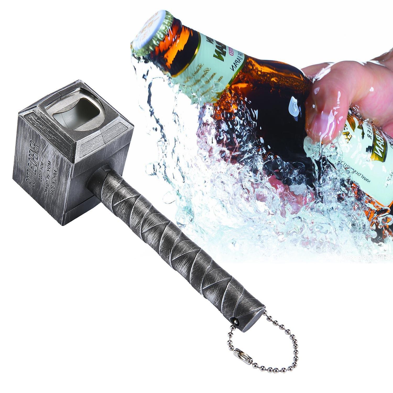 Magnetic Automatic Beer Bottle Cap Opener,Stainless Steel Push Down Beer Opener,Silver niceEshop TM
