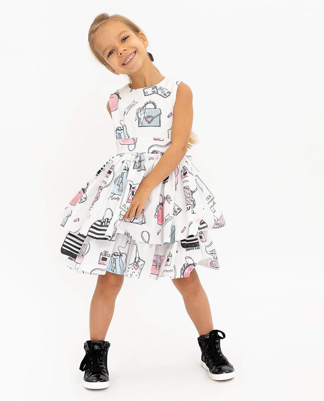 GULLIVER Kleid Baby M/ädchen Festliches Kleid T/üllrock Weiss Prinzessin Tailliert /Ärmellos Knieland