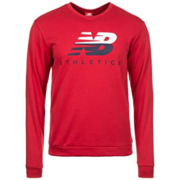 New Balance Athletics Crew - Sudadera para hombre, rojo, large: Amazon.es: Deportes y aire libre