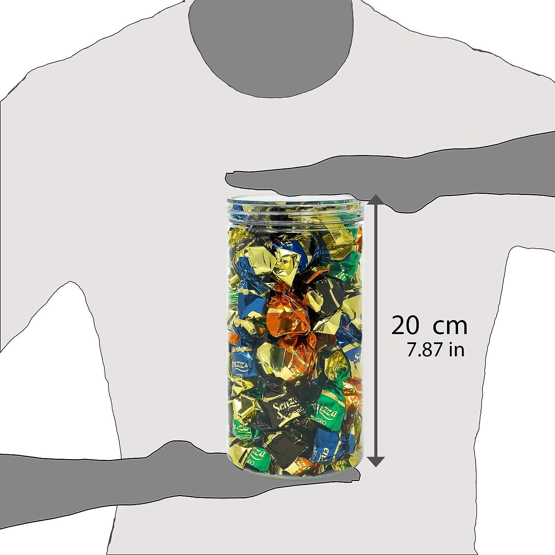 Tarros con Tapa de Aluminio Enroscable 20x10cm D Luxy Pack 4 Botes de Polietileno Alimentario 100 /% Libre de BPA. Reciclable 1,5 L