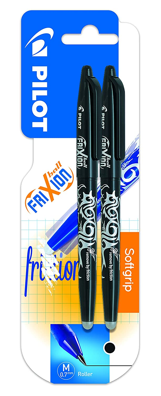 Pilot Spain Frixion Ball –  Penna cancellabile, 2 pezzi, colore: nero 2pezzi BL-FR7
