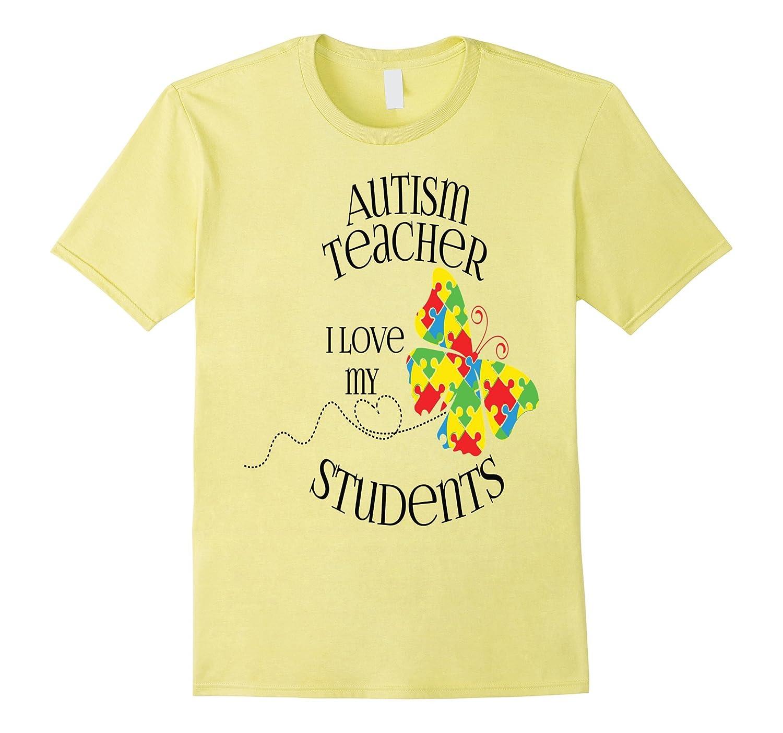 Autism Puzzle Shirt Autistic Teacher School Butterfly-CD