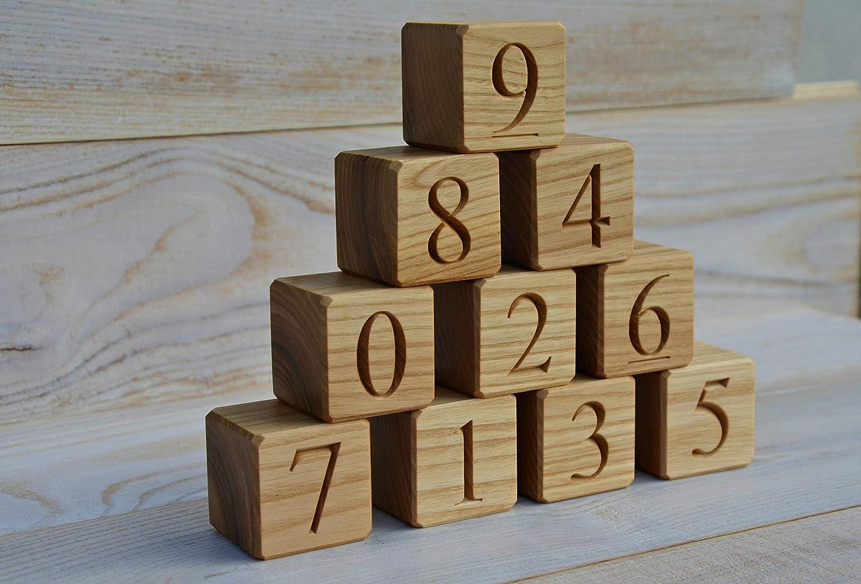 Wood Number Block Set