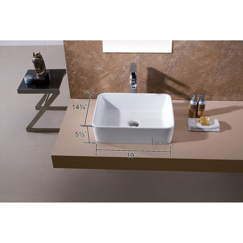 luxier cs013 bathroom porcelain ceramic vessel vanity sink art basin amazoncom