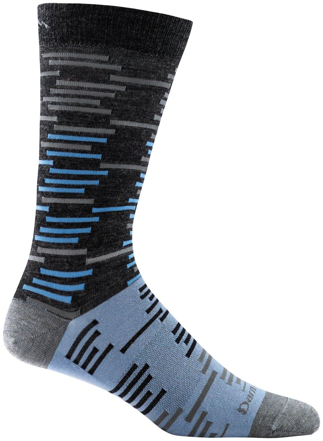Darn Tough Dashes Crew Light Sock - Men's Charcoal Large