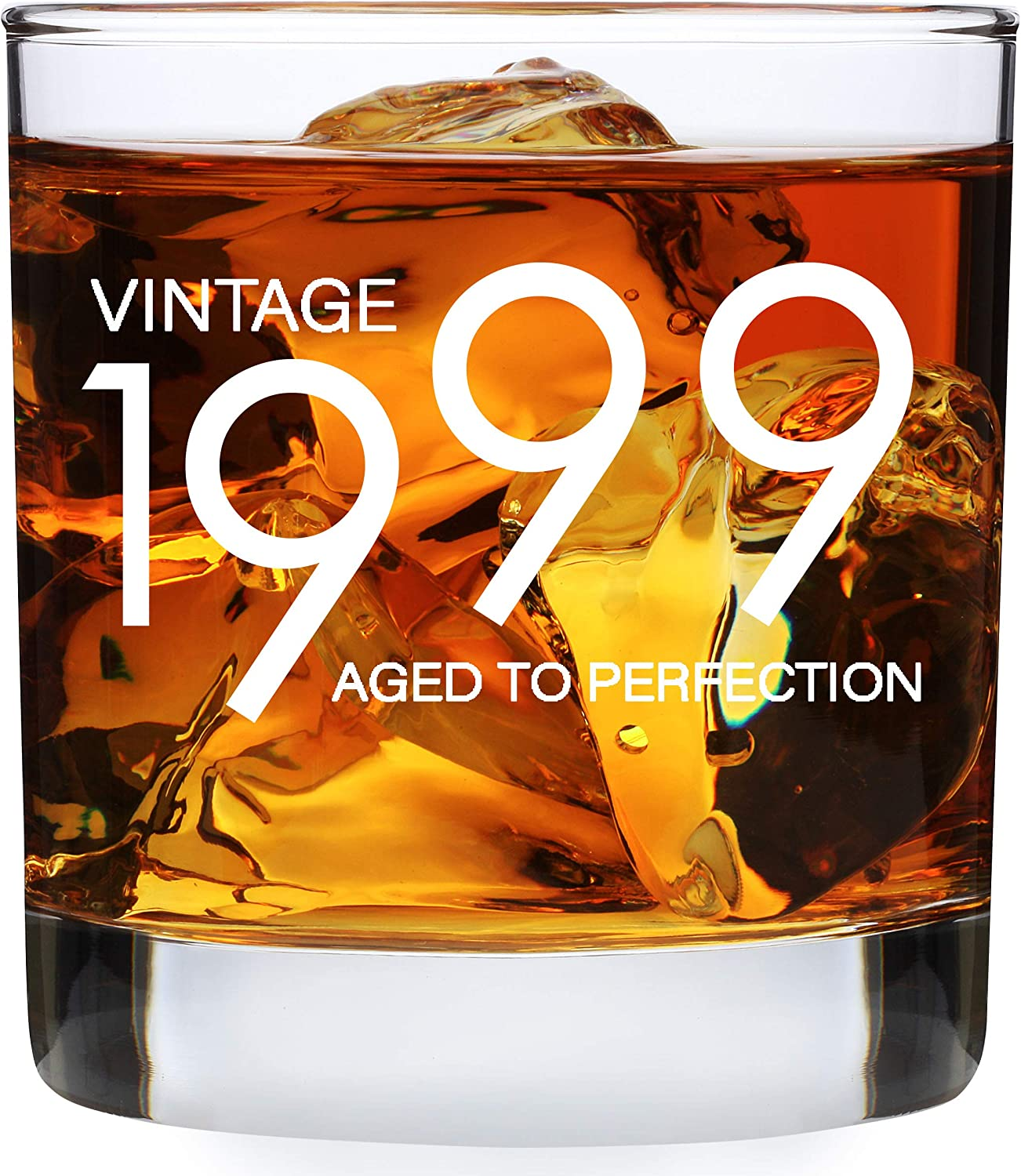 Amazon Com 1999 21st Birthday Gifts For Men Women 11 Oz Whiskey Bourbon Lowball Glass Funny Twenty First Vintage 21 Year Old Present Ideas For Him Her Dad Mom Husband Wife Whisky Glasses Party