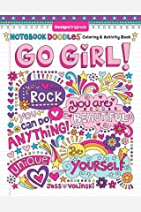 Notebook Doodles Go Girl!: Coloring & Activity Book (Design Originals) 30 Inspiring Designs; Beginner-Friendly Empowering Art Activities for Tweens, on High-Quality Extra-Thick Perforated Paper Paperback
