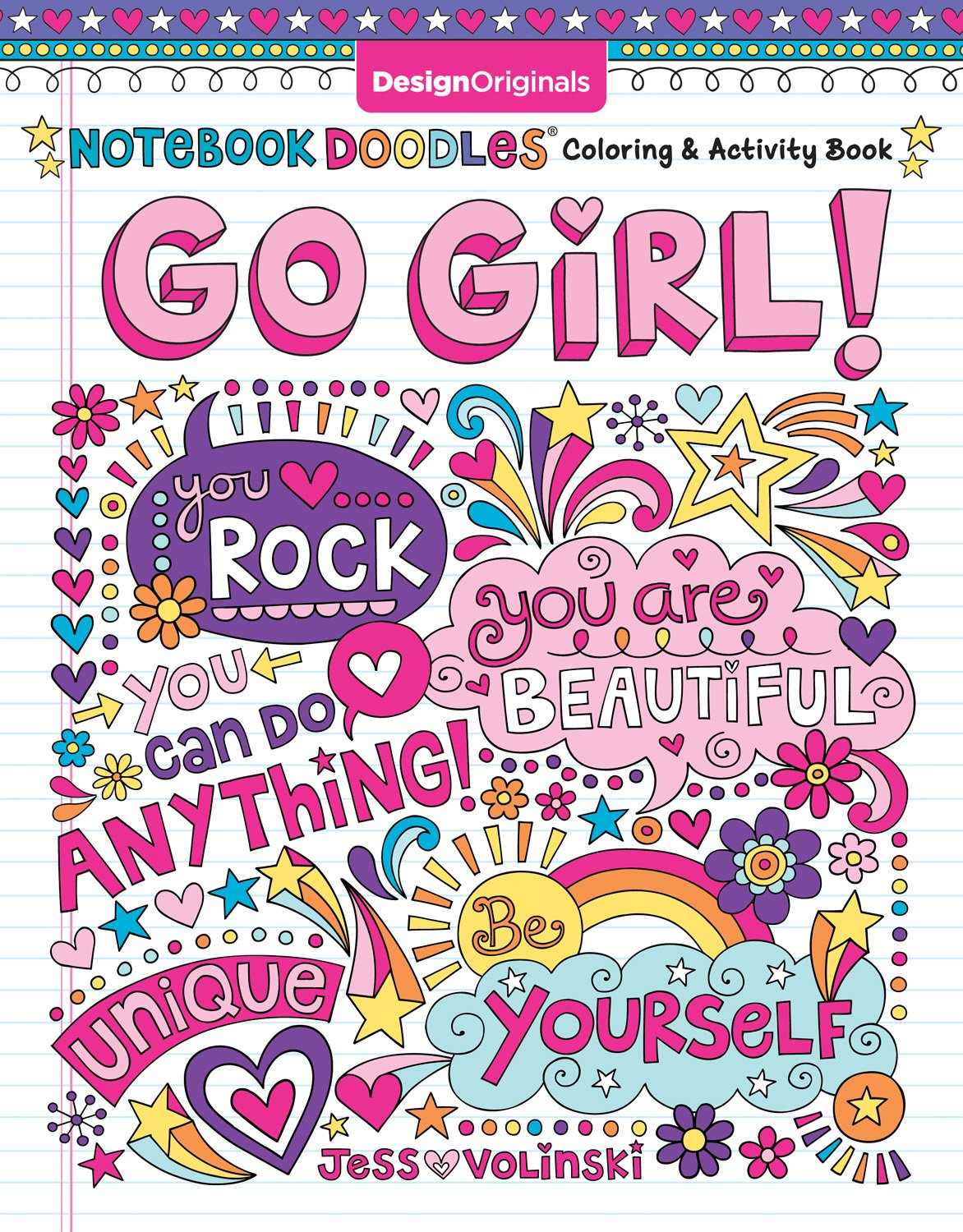 Notebook Doodles Go Girl!: Coloring & Activity Book (Design Originals) 30 Inspiring Designs; Beginner-Friendly…