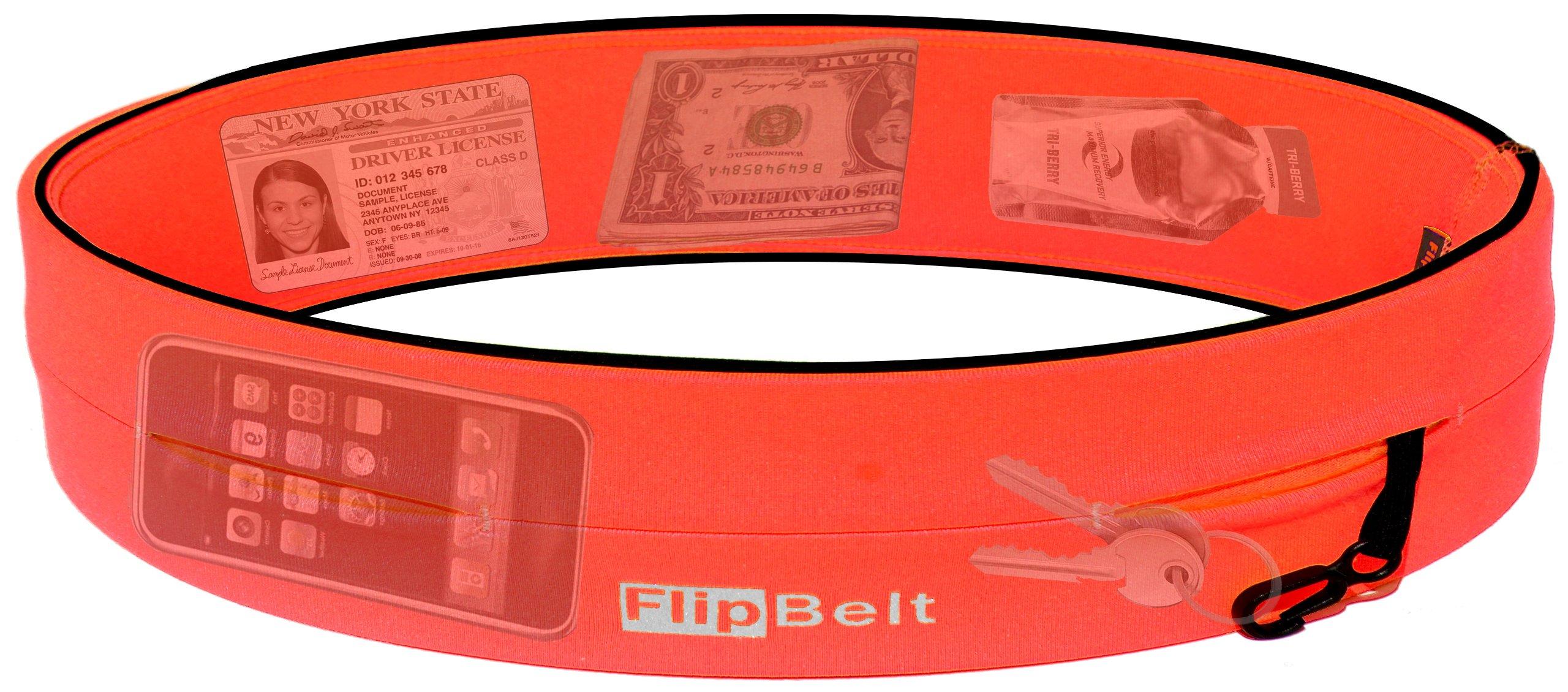 FlipBelt Level Terrain Waist Pouch, Neon Punch, X-Small/22-25'' by FlipBelt (Image #2)