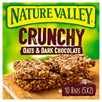 Nature Valley Crunchy Oats & Dark Chocolate Cereal Bars 42g (Pack of 5 bars)