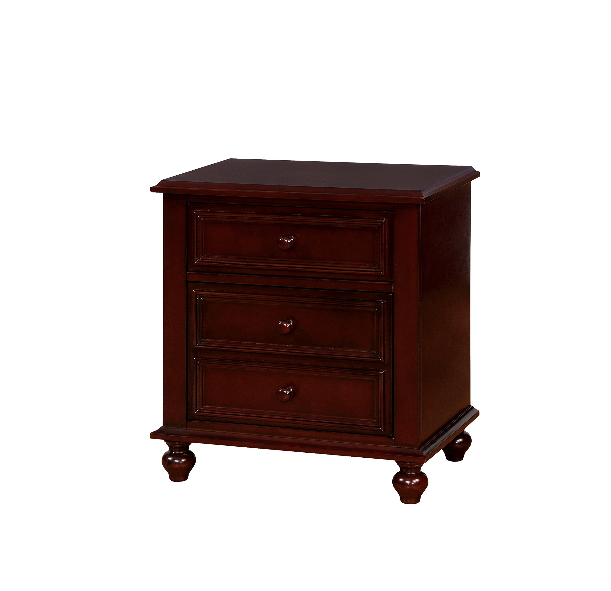HOMES: Inside + Out IDF-7155EX-N Colderon Nightstand Childrens, Dark Walnut