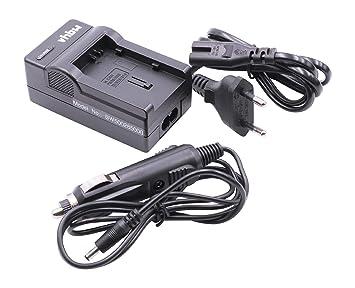 vhbw CARGADOR CABLE de CARGA + CARGADOR COCHE para baterías CANON BP-808, BP-820, BP-828 y modelos cámaras Legria FS36, HF-G30, HF-XA20,HF- XA25.