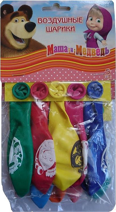 Amazon.com: [rustoyshop] 10 inflable globo Masha y oso para ...