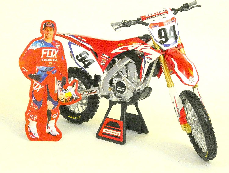 New Ray 49593 Moto Honda Factory Racing Team K Roczen 1 6 Miniatur Motorrad Mehrfarbig Spielzeug