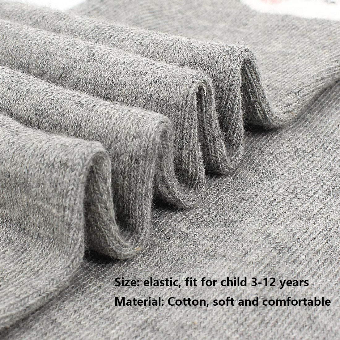 Menghao 6 Pairs Knee Socks Girl for 5-12Years Old-Summer Spring Socks for Kids Animal Cat Fox Bear Cotton Stockings