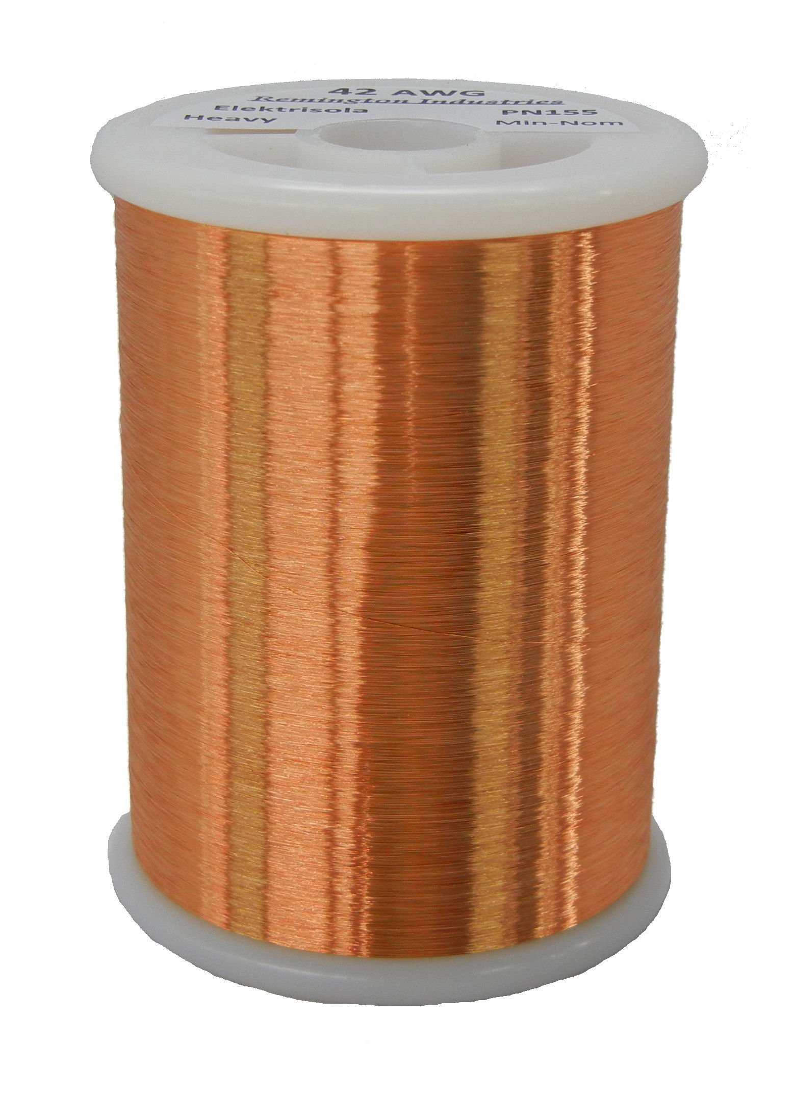 Remington Industries 42SNSP 42 AWG Magnet Wire, Enameled Copper Wire, 1.0 lb, 0.0026'' Diameter, 51313' Length, Natural