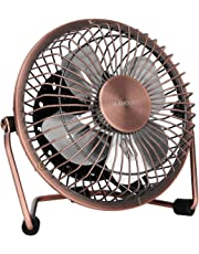 GLAMOURIC Portable Desk USB Powered Mini Fan Vintage Metal Cooler Fan Cooling Mute Quiet - Great for Desktop Tabletop Office & Travel