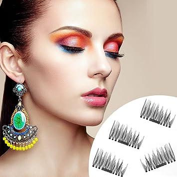 e4f455e8620 Amazon.com : False Magnetic Eyelashes - No Glue, Mess-Free Reusable Lashes  - Beautiful Natural Enhanced Eyes, Ultra-thin Magnetic Eyelashes by Potou  (4 ...