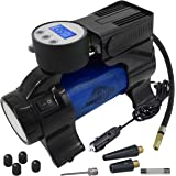 Motor Luxe Portable Air Compressor Pump 12V DC - Digital Tire Inflator with 100 PSI Pressure Gauge for Car - Auto Shut Off & Free Accessories