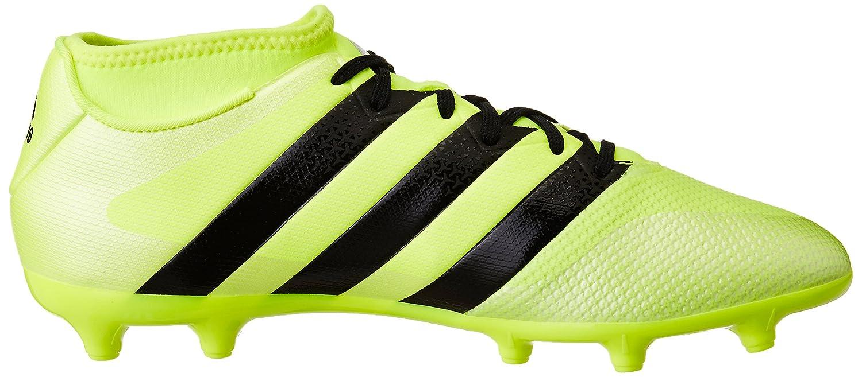 adidas Ace 16.3 Primemesh, Chaussures de Football Entrainement Homme, Jaune (Solar Yellow/Core Black/Silver Metallic), 44 EU