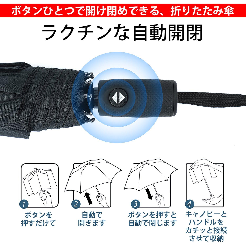折りたたみ傘 自動開閉機能