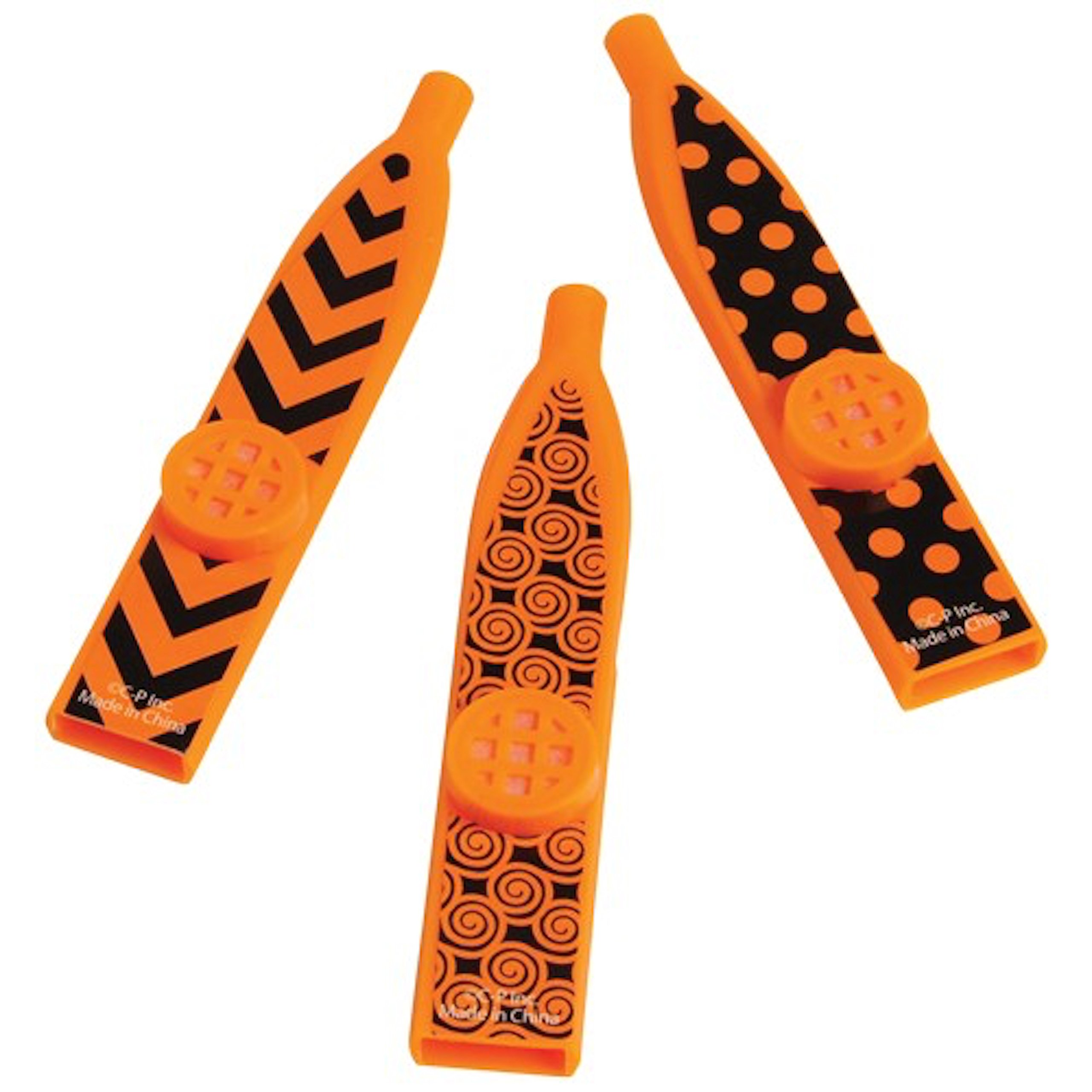 US Toy Assorted Candy Corn Halloween Theme Black And Orange Toy Kazoo Party Favors - Pack of 6 by U.S. Toy