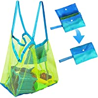 Mesh Beach Toys Bag, Extra Large Beach Accessory, Lightweight & Durable Mesh Beach Bag and Tote for Traveling…