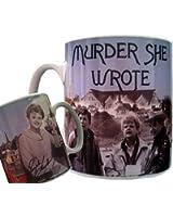 Murder She Wrote Mug, Angela Lansbury, Jessica Fletcher, Cabot Cove, Classic TV