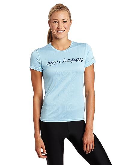187eba1d129 Amazon.com  Brooks Women s EZ T Run Happy Shirt