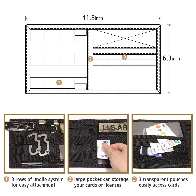 MAGARROW Sun Visor Organizer Holder Pouch Vehicle Sunshade Storage Bag