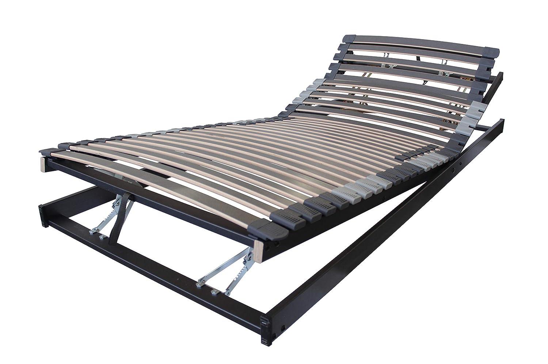BELARO Lattenrost XXL Exklusiv KRF 120x220 cm || Unterfederung für hohe Belastungen bis 200kg - manuelle Kopf-/Rücken und Fußteilverstellung
