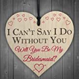 RED OCEAN I Can't Say I Do Without You Will You Be My Bridesmaid Invite Bridal Shower Wedding Friendship Gift Sign