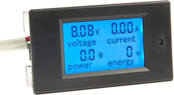 bayite DC 6.5-100V 0-100A LCD Display Digital Current Voltage Power Energy Meter