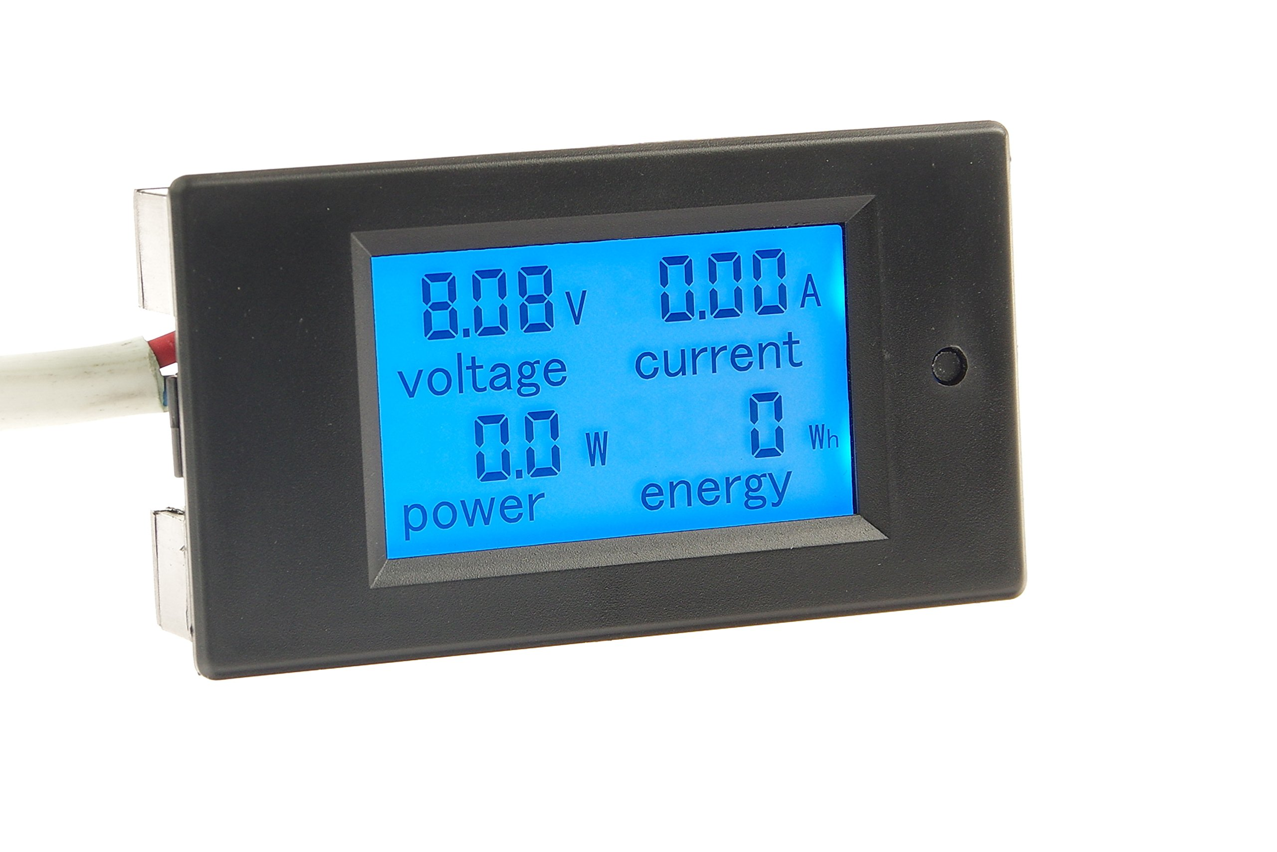 KNACRO DC 6.5-100V 0-50A LCD Display Digital Current Voltage Power Energy Meter Multimeter Ammeter Voltmeter with 50A 75mv Current Shunt