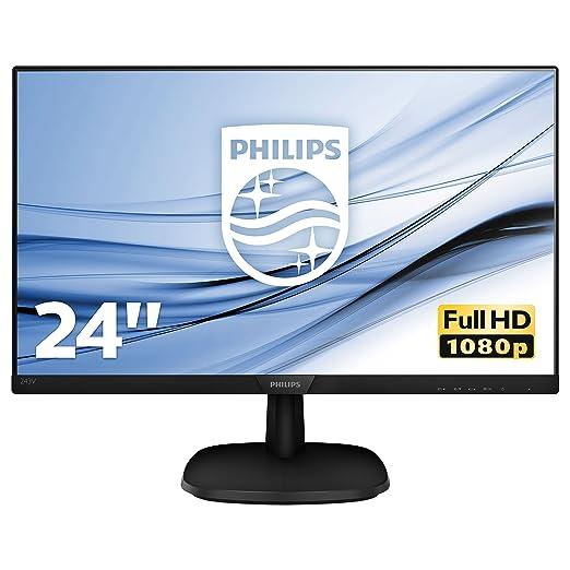 "2 opinioni per Philips 243V7QJABF Monitor 24"" LED IPS Full HD, 1920 x 1080, 5 ms, 3 Side"