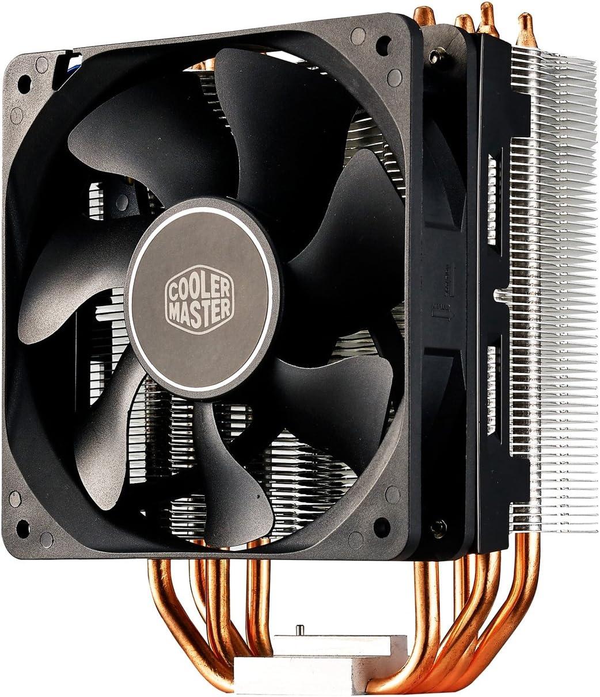 Cooler Master Hyper 212X Sistema Refrigeración - Optimas Aletas Disipador Térmico - 4 Tubos de Calor Contacto Directo Continuo, Resistente POM Fan Bearing