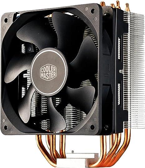Cooler Master Hyper 212X Sistema Refrigeración, Optimas Aletas Disipador Térmico, 4 Tubos de Calor Contacto Directo Continuo, Resistente POM Fan ...