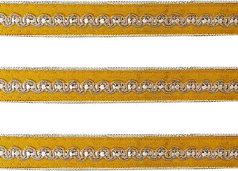 Ribbon Metallic Trim.Light Gold 9 Yards Narrow Braid