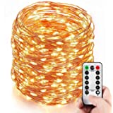 Homestarry 164 Ft 500 LEDs Dimmable LED String Lights,Long Outdoor Waterproof Cooper Wire String Lights With Remote,Warm White Indoor Decorative Lights for Bedroom,Patio,Garden,Party,Christmas Tree.