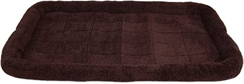 SnooZZy Bolster Crate Mat, Brown, for 48 Crates
