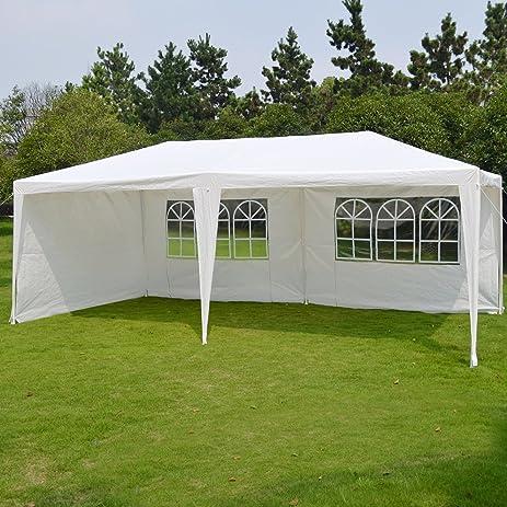Peaktop 10u0027X20u0027 Outdoor Wedding Party Tent C&ing Easy Set Gazebo BBQ Pavilion Canopy & Amazon.com : Peaktop 10u0027X20u0027 Outdoor Wedding Party Tent Camping ...