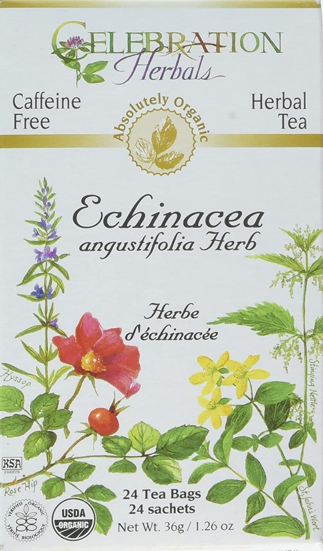 CELEBRATION HERBALS Echinacea ANG Herb Tea Organic 24 Bag, 0.02 Pound