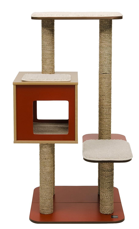 Walnut Vepser V-High Base Cat Furniture Tree