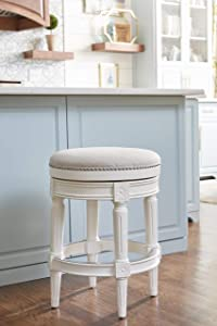 NewRidge Home Goods Backless Chapman Counter Height Stool White (NR107184-FCS-AW)