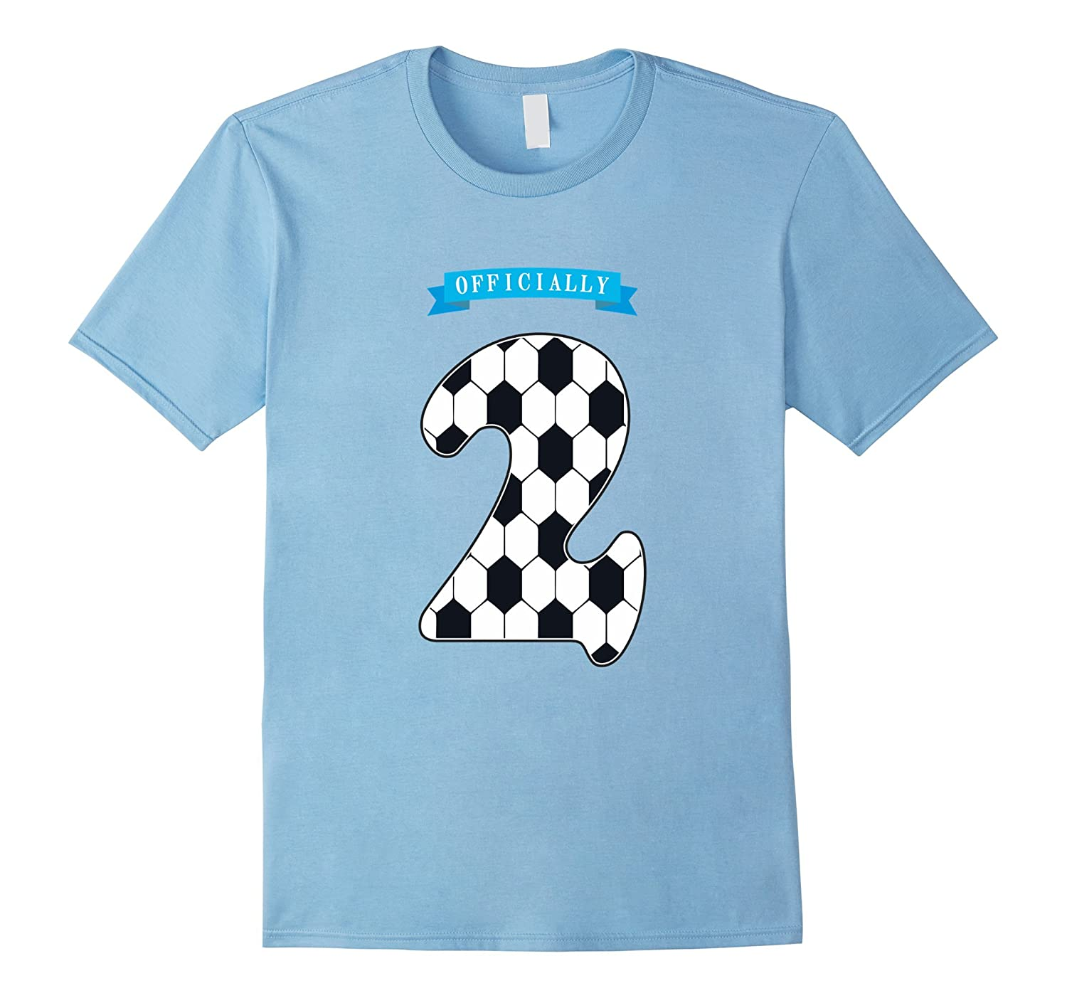 2 Years Old T Shirt 2nd Birthday Number Tee Soccer Kids Gm