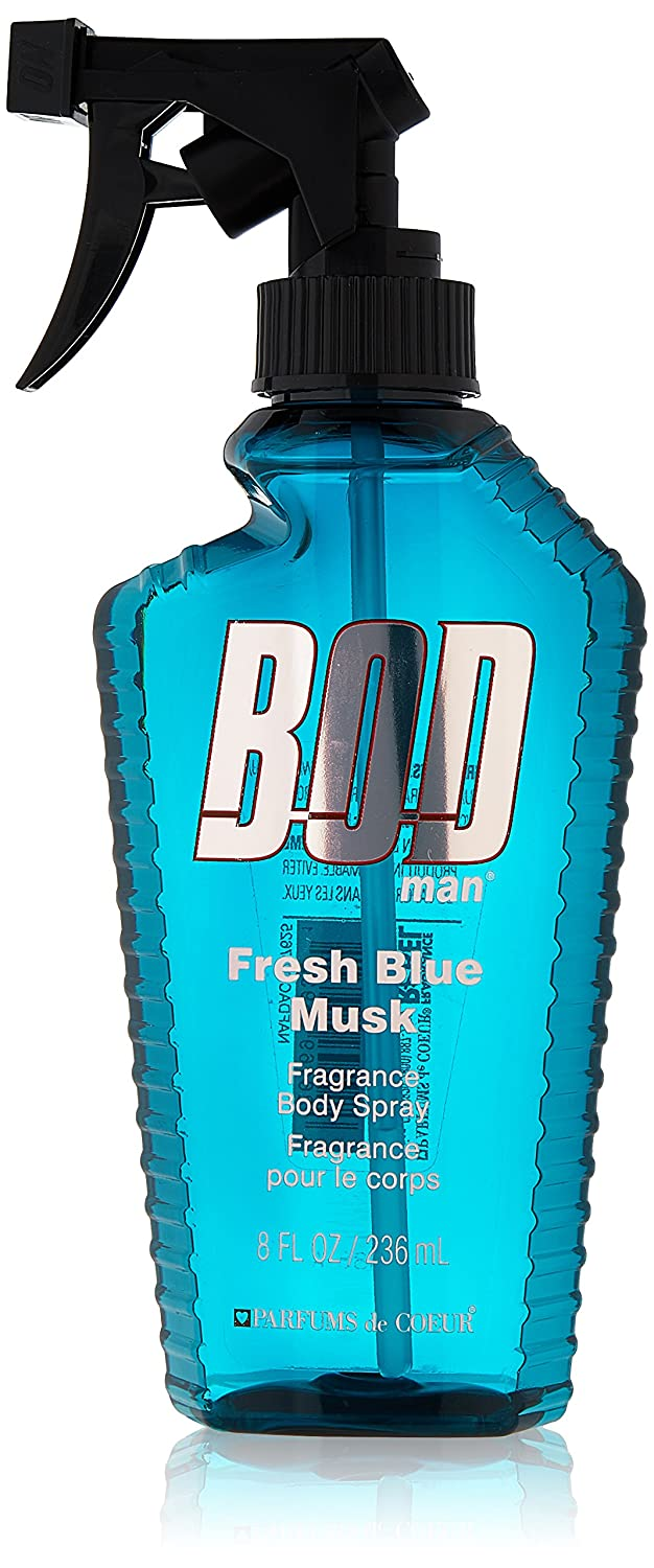 Parfums De Coeur Bod Man Fresh Blue Musk for Men Fragrance Body Spray, 8.0 Ounces BBM8M